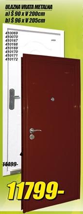 Ulazna vrata metalna 90x200