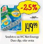 Sredstvo za WC Net Energy Duo clip