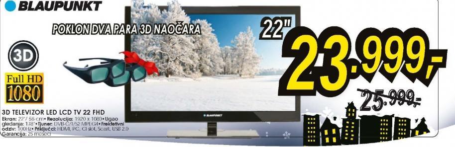 Televizor 3D LED LCD TV 22 FHD