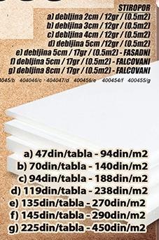 Stiropor 3cm 12gr