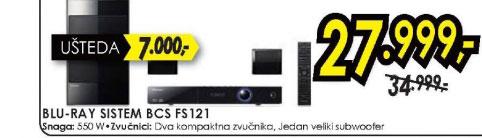 Blu-ray sistem BCS-FS121