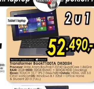 Laptop TransformerBook T100TA-DK005H
