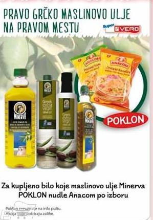 Poklon uz Minerva maslinovo ulje