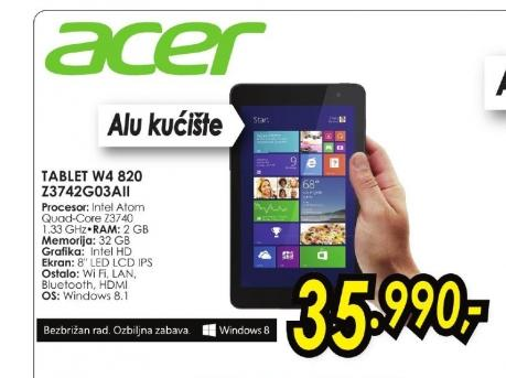 Tablet Iconia W4-820-Z3742G03aii