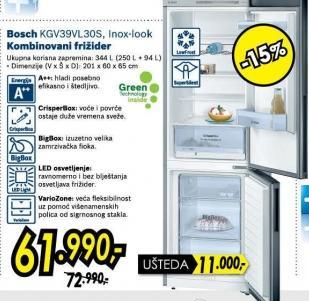 Kombinovani frižider Kgv39vl30s