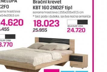 Bračni krevet KBT 160 2NO2F TIP1
