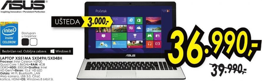 Laptop X551ma Sx049h/Sx048h