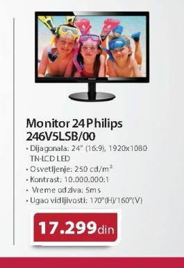 "Monitor 24"" Philips 246V5LAB/00"