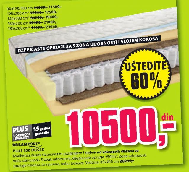 Dušek Plus S50, 90x190/200cm