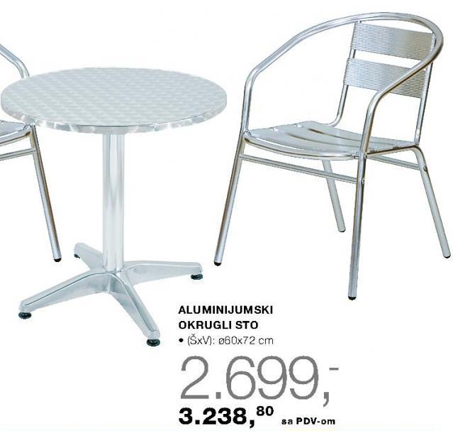 Aluminijumski okrugli sto