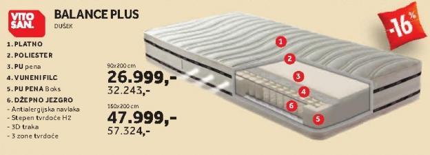 Dušek Balance Plus 90x200cm