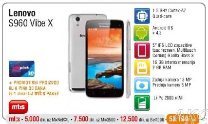 Mobilni telefon S960 Vibe X