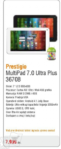 Tablet Multipad 7.0 Ultra Plus 3670B