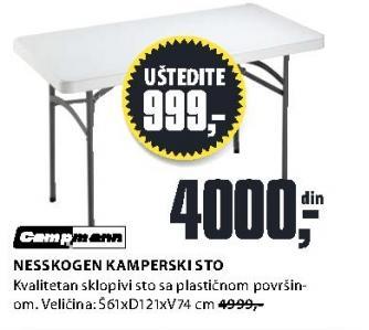 Kamperski sto Nesskogen