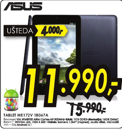 Tablet Memo Pad ME172V-1B067A