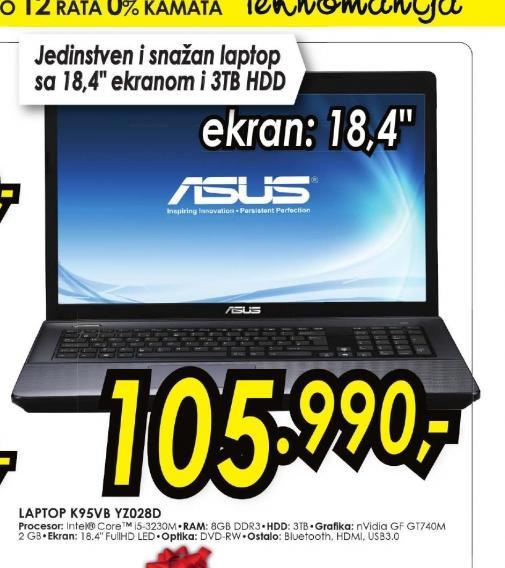 Laptop K95VB-YZ028D