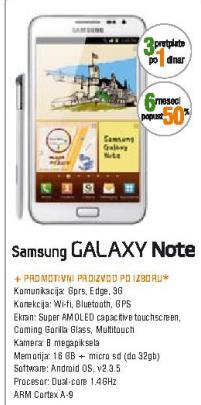 Mobilni Telefon GALAXY Note