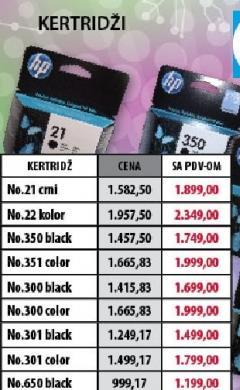 Ketridž No.650 black