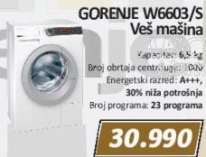 Veš mašina W6603/s