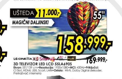 Televizor LED LCD 55LA690S
