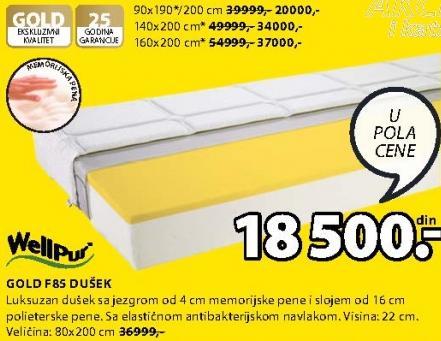 Dušek Gold F85 80x200 cm