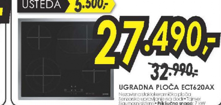 Ugradna ploča ECT620AX