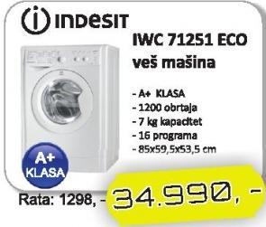 Mašina Za Pranje Veša IWC 71251 Eco