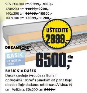 Dušek Basic S10 160x200cm