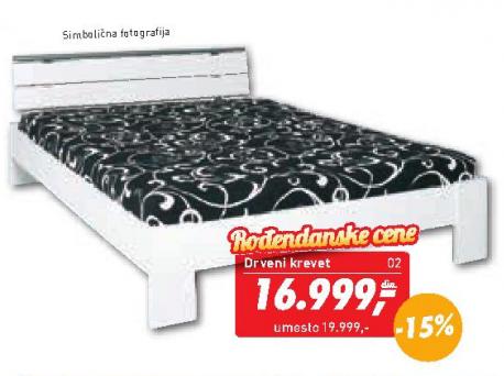 Drveni krevet Cora 140x200
