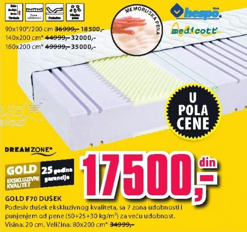 Dušek Gold F70 160x200