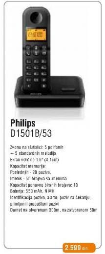 Bežični telefon D1501/53
