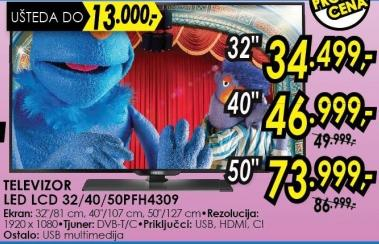 "Televizor LED 40"" 40pfh4309"