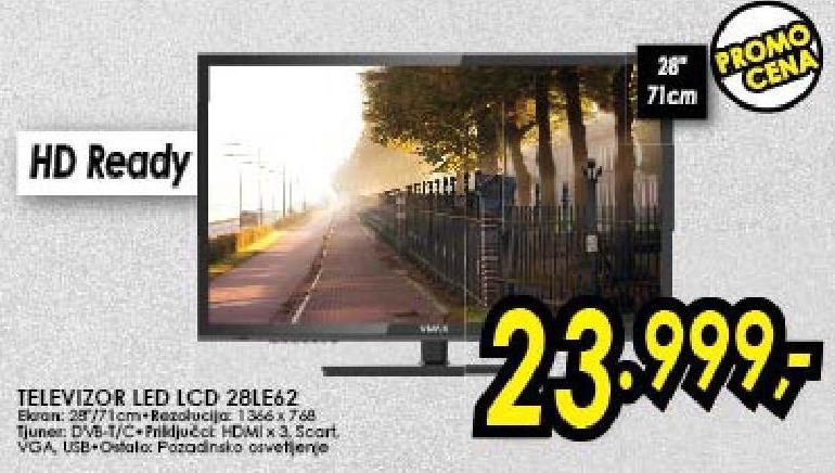 "Televizor LED 28"" 28le62"