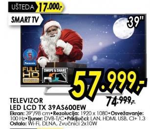 """Televizor LED 39"""" Tx 32as600ew"""