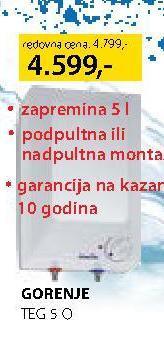 Bojler TEG 5 O