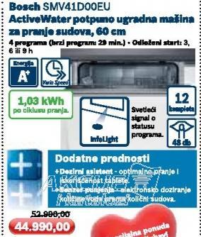 Ugradna Sudomašina SMV41D00EU