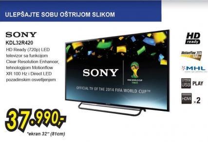 """Televizor LED 32"""" Kdl32r420"""