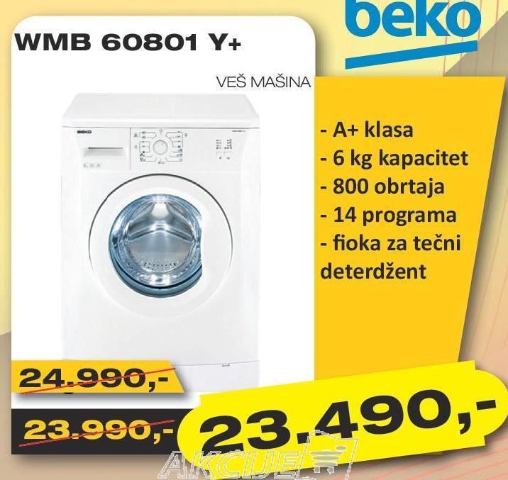Veš mašina WMB 60801 Y+