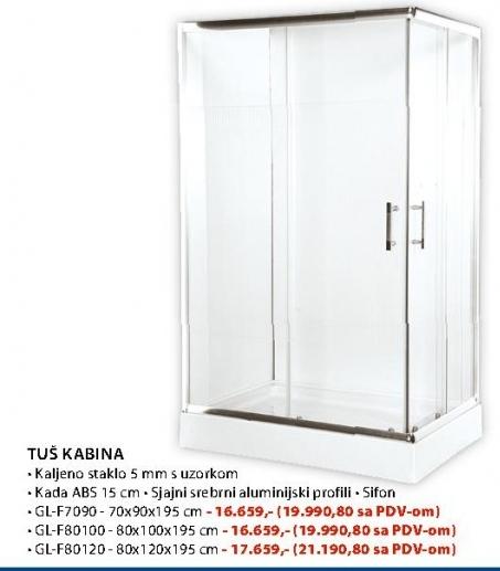 Tuš kabina GL F 80100-