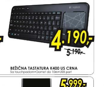 Bežična tastatura K400 WIRELESS