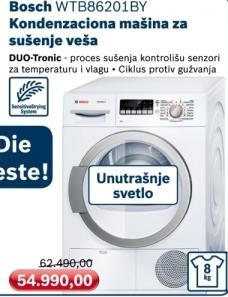 Mašina za sušenje veša kondenzaciona Wtb86201by