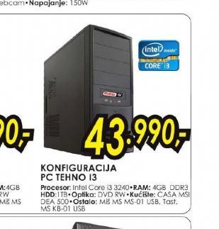 Konfiguracija PC TEHNO I3