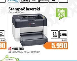 Štampač Laser A4 Ecosys FS-1040