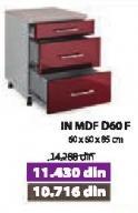 Kuhinjski element In Mdf D60f Bordo