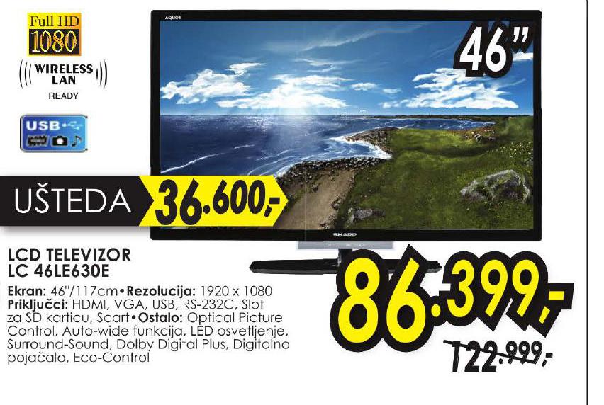 LCD Televizor 46LE630E