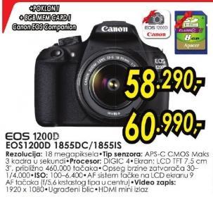 Digitalni fotoaparat Eos 1200d 1855dc + Poklon 8GB SD kartica