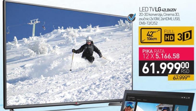 """Televizor LED 42"""" 3D 42LB620V"""