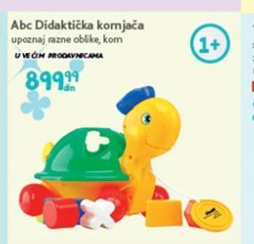Igračka didaktička kornjača