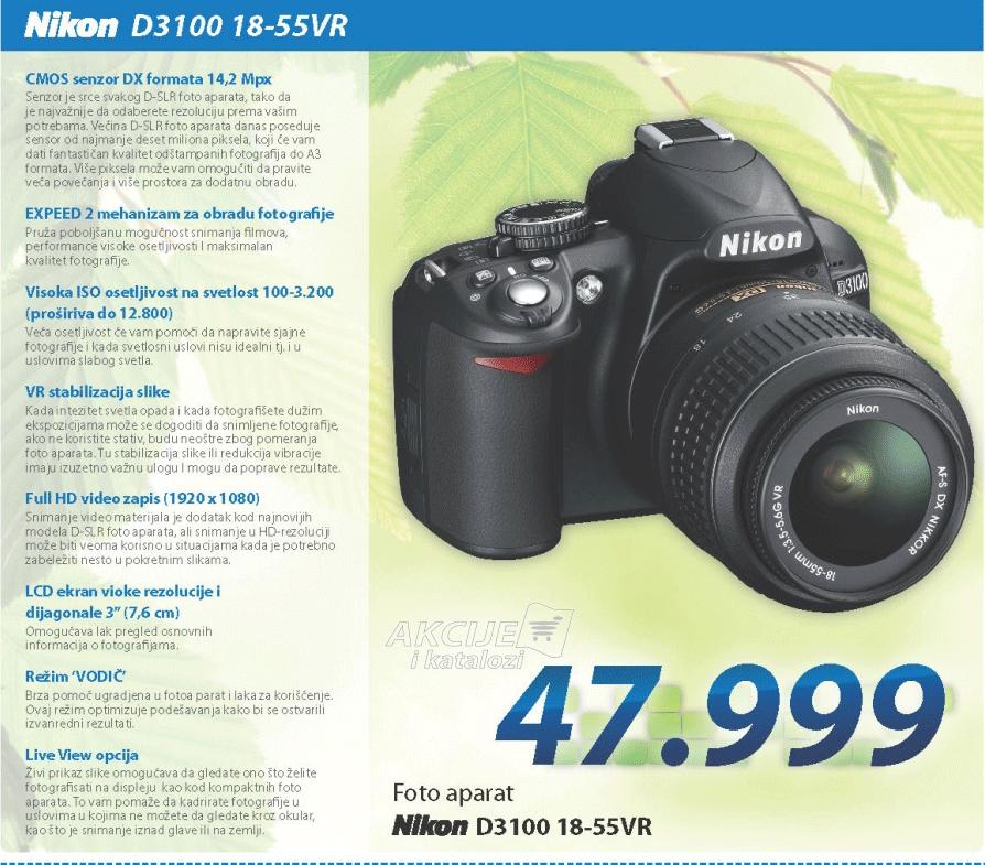 Fotoaparat D3100 SET 18-55VR R5520