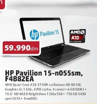 Laptop Pavilion 15-n055sm